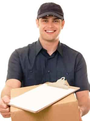 Courier service man in Phoenix
